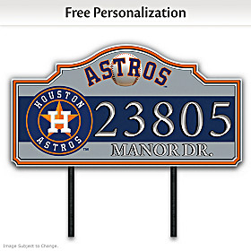 Houston Astros Personalized Address Sign