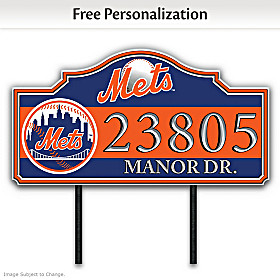 New York Mets Personalized Address Sign
