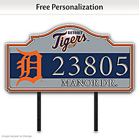 Detroit Tigers Personalized Address Sign