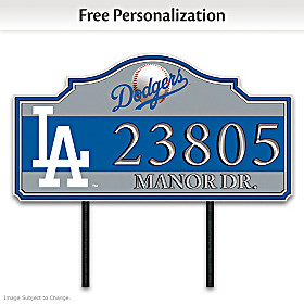 Los Angeles Dodgers Personalized Address Sign