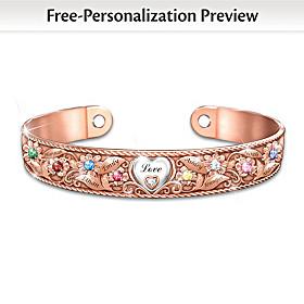Mom's Garden Of Love Personalized Bracelet