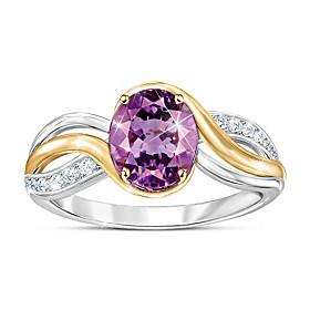 Purple Harmony Ring
