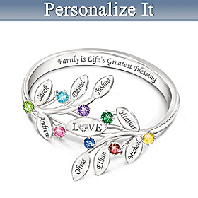 Family Of Love Personalized Ring
