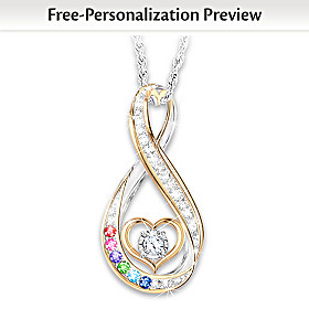 An Amazing Mother Personalized Diamond Pendant Necklace