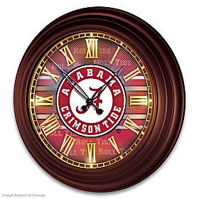 University Of Alabama Wall Clock