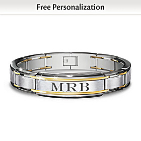 The Strength Of My Son Personalized Bracelet