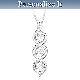 Always My Love Personalized Diamond Pendant Necklace