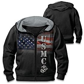 Patriotic Marine Men's Hoodie