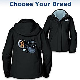 I Love My Dog To The Moon & Back Women's Jacket