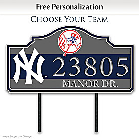 MLB Personalized Address Sign