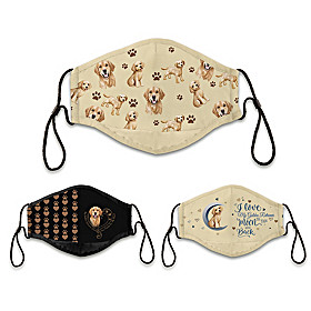 Golden Retriever Love Face Mask Set