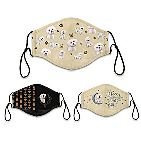 Bichon Frise Love Face Mask Set