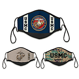 U.S. Marines Cloth Face Covering Set