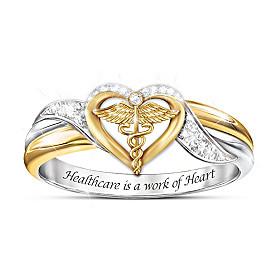 Healing Embrace Diamonesk Ring