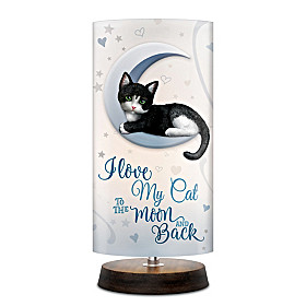Love My Cat To The Moon And Back Lamp