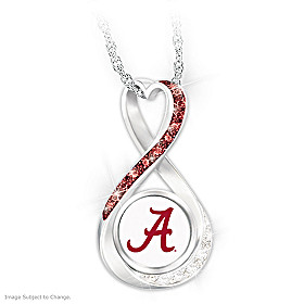 Crimson Tide Forever Pendant Necklace