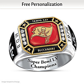 Tampa Bay Buccaneers Super Bowl LV Personalized Fan Ring