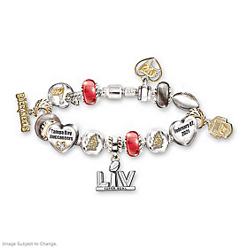 Go Buccaneers! #1 Fan Super Bowl Charm Bracelet