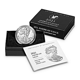2021 First-Ever Type 2 Proof Silver Eagle Coin