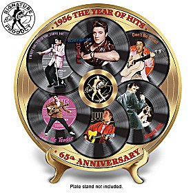Elvis 1956 The Year Of Hits Collector Plate
