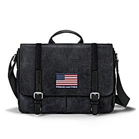 American Flag Messenger Bag