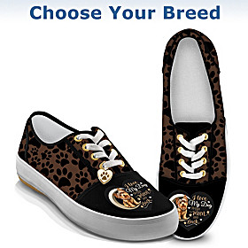 I Love My Dog To The Moon And Back Women's Shoes
