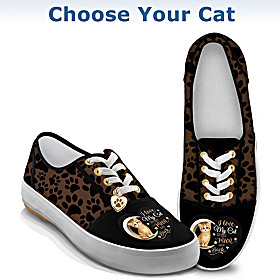 I Love My Cat To The Moon And Back Women's Shoes