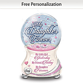 My Daughter So Loved Personalized Glitter Globe