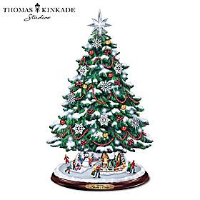Thomas Kinkade Skater's Creek Christmas Tree