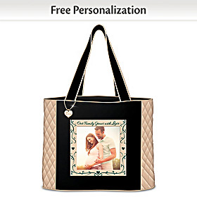 Our Family Grows With Love Personalized Tote Bag