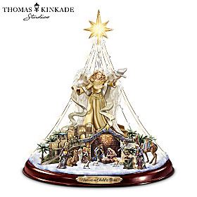 Thomas Kinkade Unto Us A Child Is Born Christmas Tree