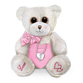 My Love, My Granddaughter Pendant Necklace & Plush Bear Set