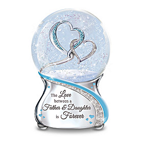 The Love Between A Father And Daughter Glitter Globe