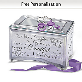 Daughter, You Are So Beautiful Personalized Music Box