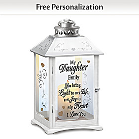 My Love, My Life, My Daughter Personalized Lantern