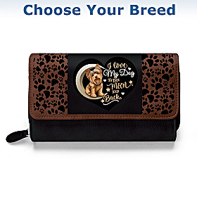 I Love My Dog To The Moon And Back Wallet