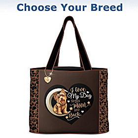 I Love My Dog To The Moon And Back Tote Bag