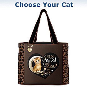 I Love My Cat To The Moon And Back Tote Bag