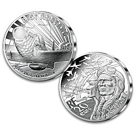 The History Of Aviation P-51 90% Silver Piedfort Coin