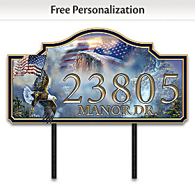 The Spirit Of America Personalized Address Sign