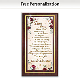 Love Is Patient, Love Is Kind Personalized Wall Decor