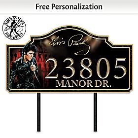 Elvis Presley Personalized Address Sign