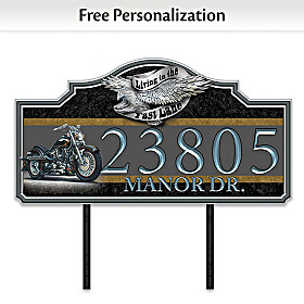 Ready To Ride Personalized Address Sign