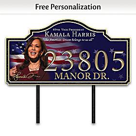 Vice President Kamala Harris Personalized Address Sign