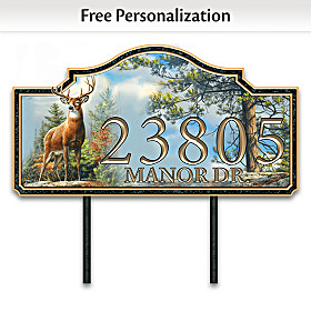 Standing Proud Personalized Address Sign