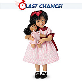 Aisha And Her Dolly Child Doll