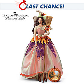 Thomas Kinkade Autumn Lane Portrait Doll