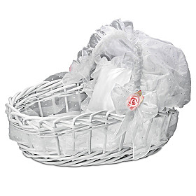 Sweet Slumber Wicker Basket Doll Accessory