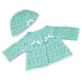 Sweater And Hat Baby Doll Accessory Set Size Large