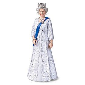 Long May She Reign Queen Elizabeth II Portrait Doll